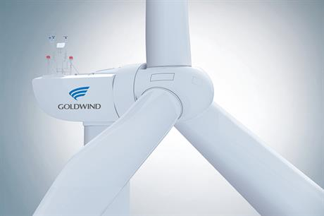 Goldwind's GW150-2.8MW is designed for ultra-low wind speeds