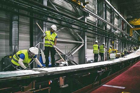 Up and running… Tangier factory started manufacturing 63-metre composite blades in April (pic: Raïd Laabi/SGRE)