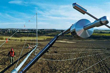 Ideally, multiple meteorological masts would be erected to give more accurate predictiones across a site, but this would be too expensive (pic: Wind Measurement International)