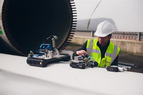 Innovate UK issued a call for projects like ATAM Group's MagTrac robotic crawler (above)