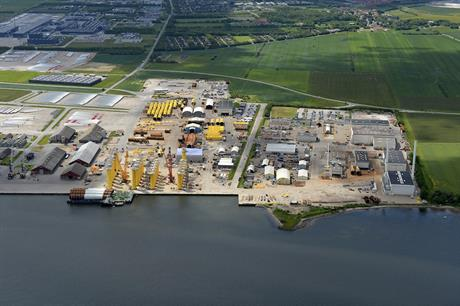 Bladt Industries will fabricate both monopiles and transition pieces at its production facilities in Aalborg, Denmark (above)