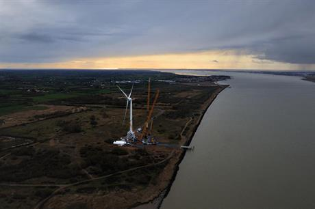 Alstom's 6MW Haliade turbine has been installed at site in Le Carnet since 2012