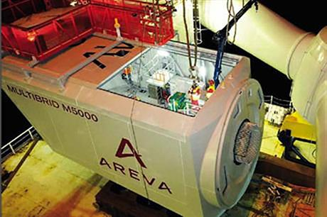 Areva will manufacture 70 M5000 turbines for Wikinger
