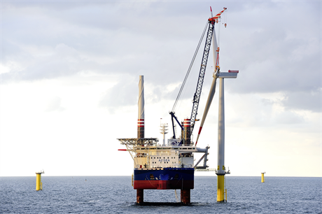 The final Siemens 4MW turbine has been installed at Borkum Riffgrund 1