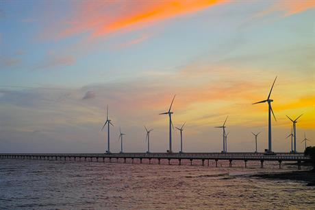 The existing Bạc Liêu wind farm off Vietnam's south coast (pic: Tycho/Wikimedia Commons)