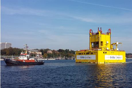 The substation for Baltic 2 has now left the port