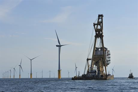 The Belwind offshore wind site off Belgium (pic: Van Oord)