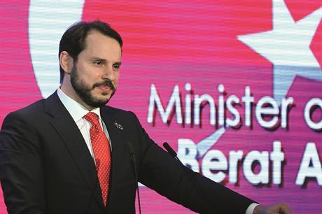 Turkish energy minister Berat Albayrak