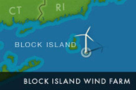 The Block Island project is located off Rhode Island's coast