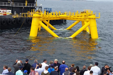 The first foundation has been installed at the 30MW Block Island project (pic: Rhode Island Fast Ferries)