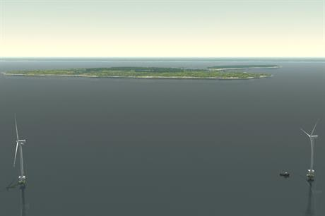 Deepwater's rendering of the Block Island site