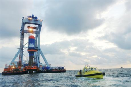 Fistuca's Blue 25M Hammer was tested off the Dutch coast in August (pic credit: The Carbon Trust)