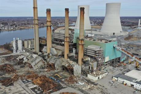 Demolition of the former Brayton Point coal plant (pic: Anbaric)