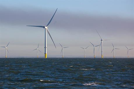The cost per MW in new offshore wind capacity has fallen rapidly since the introduction of competitive tendering (pic: Ørsted)