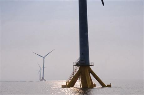 China Huaneng Group's 300MW Rudong project off the coast of Jiangsu, China