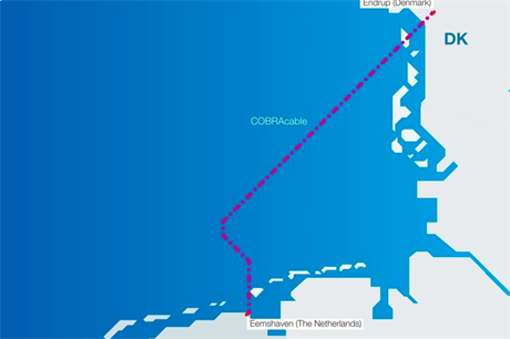 The 700MW Cobra Link connects the Netherlands and Denmark