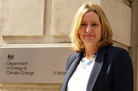 UK energy minister Amber Rudd