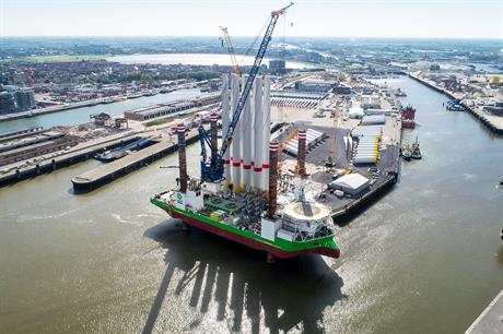Otary is currently building the Rentel offshore wind project off Belgium's North Sea coast (pic: Deme Group)