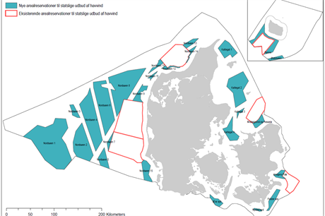 The government has reserved new zones (blue) for future potential offshore development