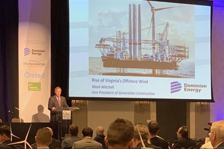 Dominion Energy announced the 2.6GW-plus wind farm at a press conference (pic credit: Rayhan Daudani/Dominion)