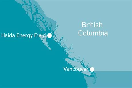 The Haida Energy Field offshore wind project would be located in the Hecate Strait, off western Canada