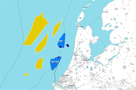 The Zuid Holland zone (lower blue area) will be offered at zero-subsidy