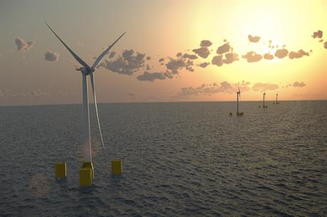 The floating platforms would support four 6MW GE Haliade turbines