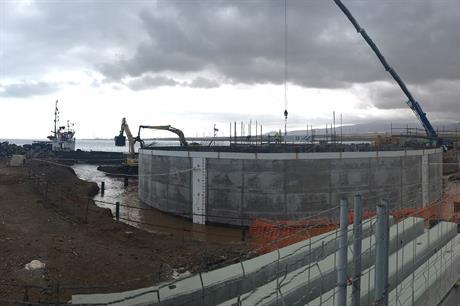 Esteyco's concrete gravity base foundation under construction