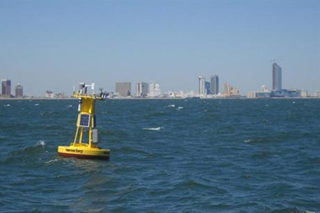 Fishermen's met buoy off the Atlantic City coast