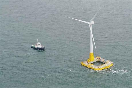 Floating offshore wind turbines have eliminated depth constraints but raised the challenge of cost-effective, reliable mooring (pic: Ideol)