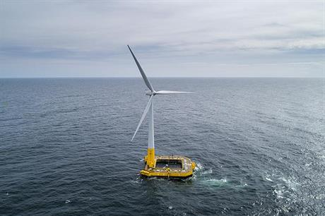 The performance of the 2MW Floatgen turbine has surpassed expectations (pic: Ideol)