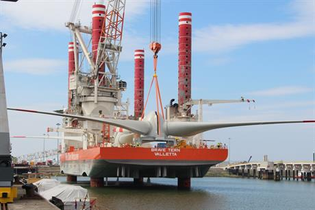Fred Olsen Windcarrier's Brave Tern installation vessel