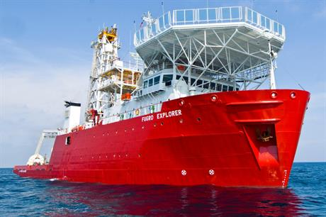 Fugro deployed its Explorer vessel to survey sites off north-east US coast