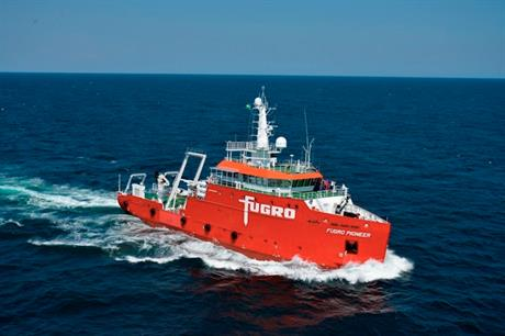 Fugro deployed its Pioneer vessel to survey the site for unexploded ordnance