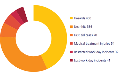 A break down of the 983 reported incidents in 2015