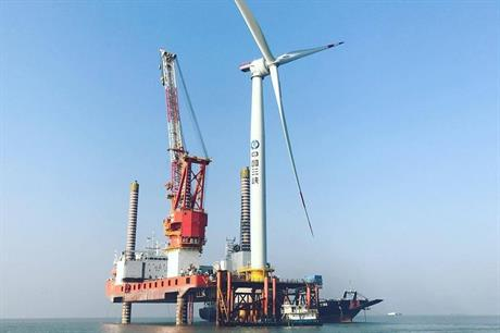 The first GE Haliade 6MW turbine installed in China