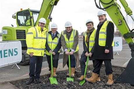 A groundbreaking ceremony took place at the Green Port Hull site in January