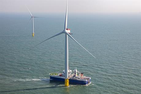 Innogy's Galloper offshore wind site was commissioned in the first quarter