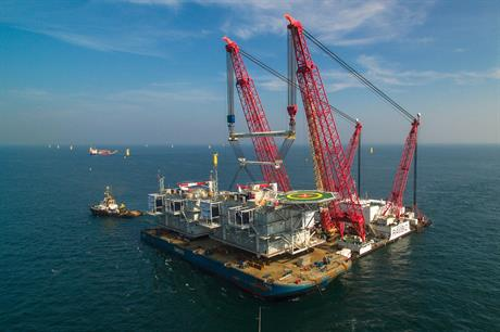 Two substations for the 600MW Gemini project are prepared for installation in the Dutch North Sea