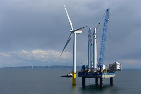 Installation of Gwynt y Mor's turbines was completed at the start of July