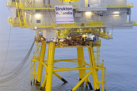 Hollandia Offshore was involved in the construction of the Riffgat offshore substation