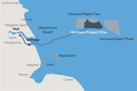 Hornsea One is due to be located 120km from England's north-east coast