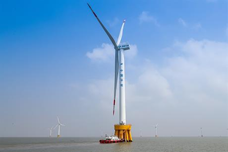 China Huaneng Group's 300MW project (above) is currently China's largest offshore wind farm
