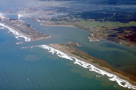 Aerial view of Humboldt Bay and the city of Eureka in Humboldt County, California (pic credit: Robert Campbell/Wikimedia Commons)