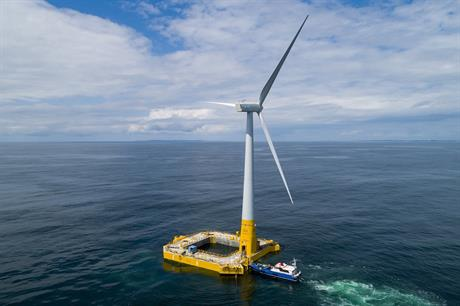To-date France's offshore wind capacity comprises a 2MW floating demonstration project from Ideol