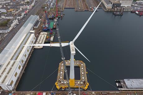 The turbine has been installed on Ideol's Floatgen platform