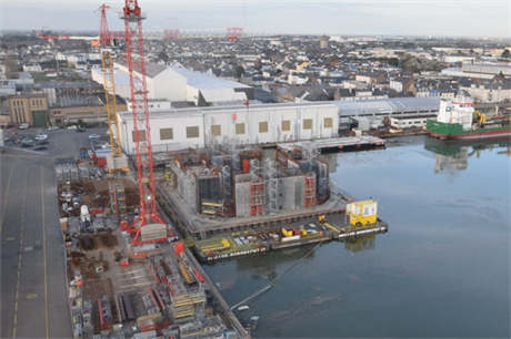 Ideol is constructing a demonstrator platform of its floating foundation for a project in France