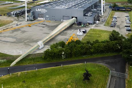 LM Wind Power's 88.8-metre blades (above) are currently the longest in the world