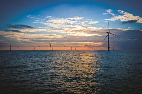 Once completed, Hornsea Project Two will replace the London array site (above) as the UK's largest operational offshore wind farm