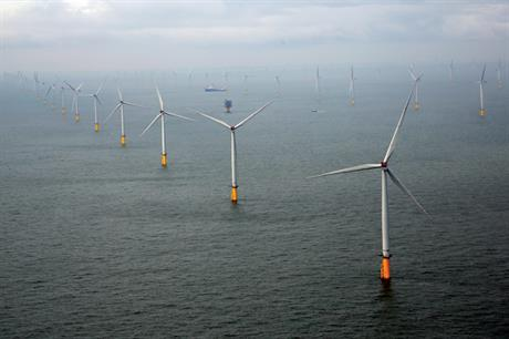 The 630MW London Array offshore wind project helped to increase energy production